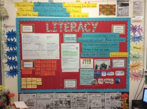 Example of a English Learning Wall